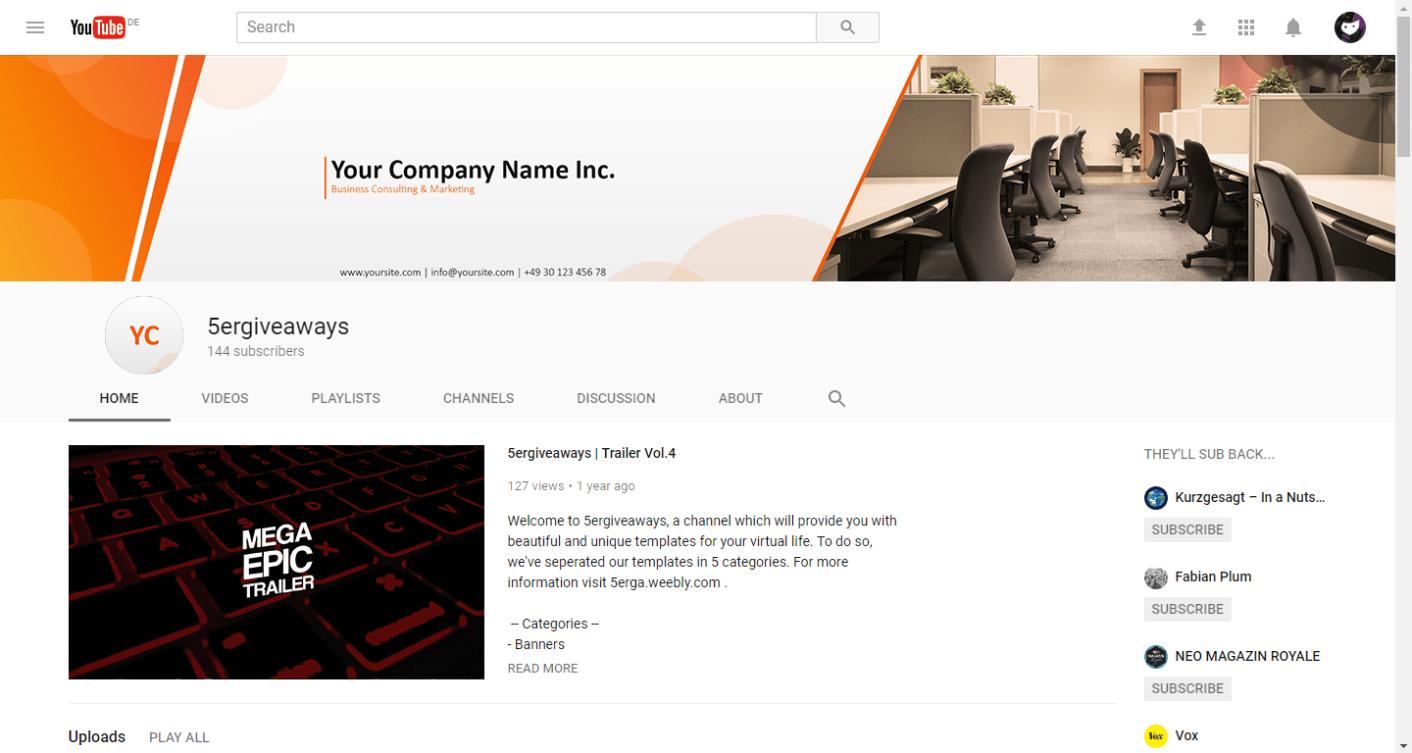 YouTube YouTube Example