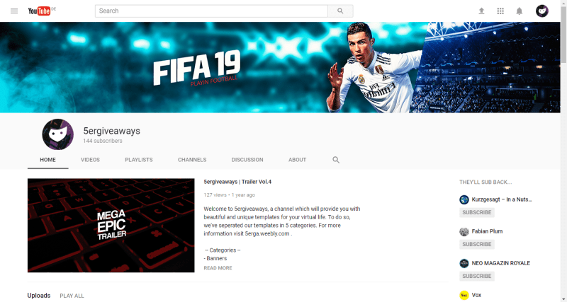 FIFA 19 Banner Example