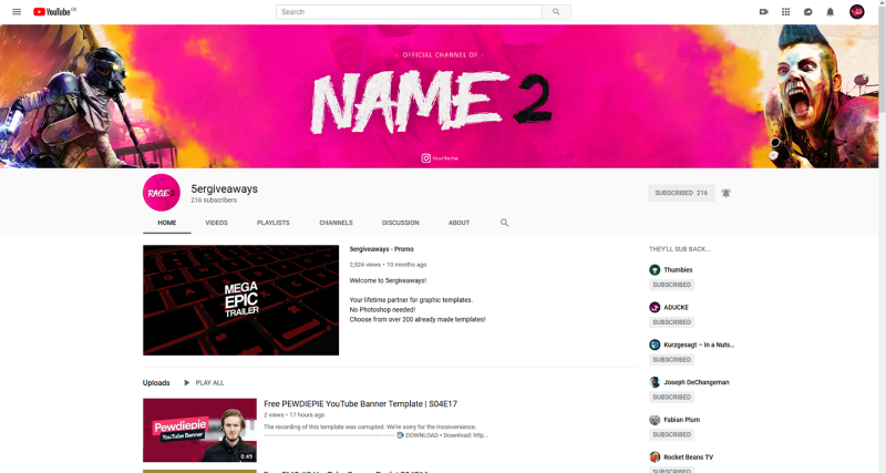 Rage 2 Banner Example