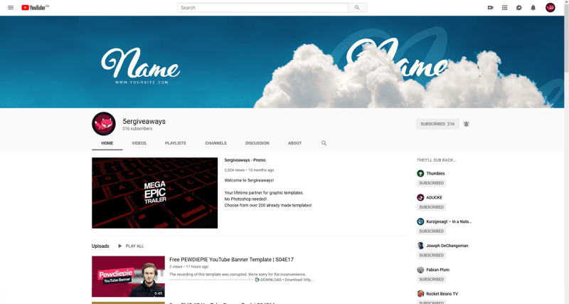 Clouds Banner Example
