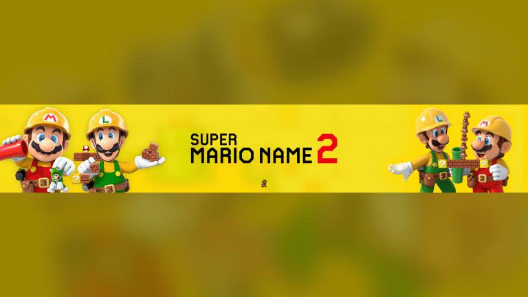 Mario Maker 2 Banner