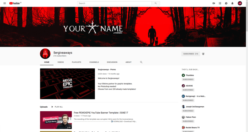 Blair Witch Banner Example
