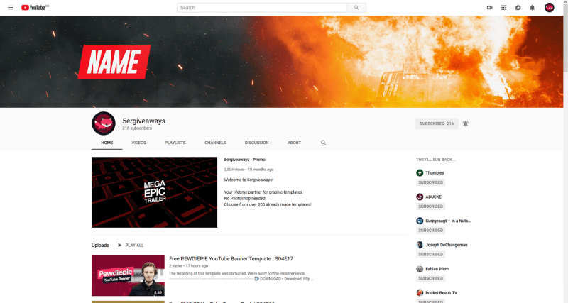 Fire 2 Banner Example