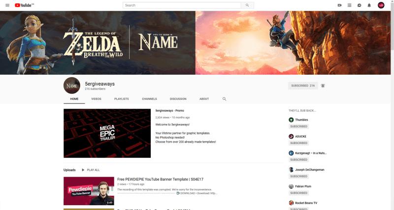 Zelda BotW Banner Example