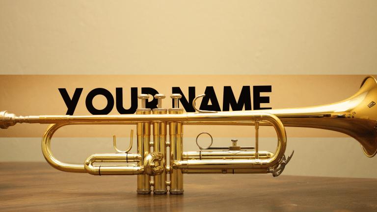 Trumpet Banner