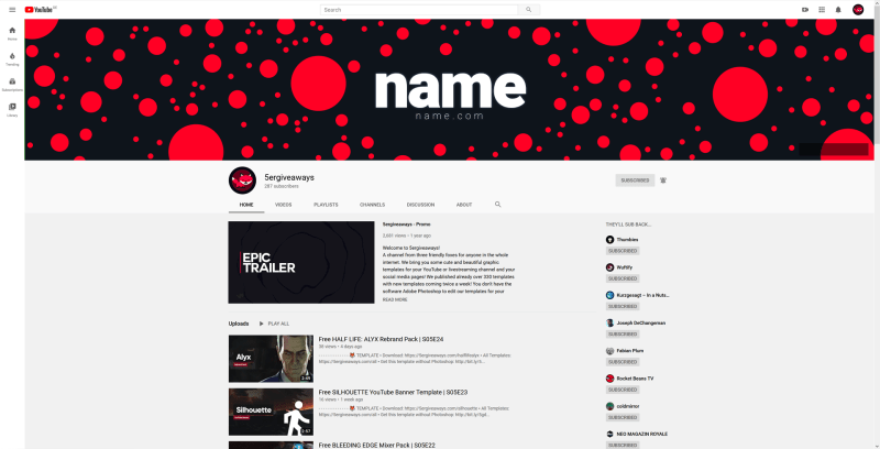 Red Dot Banner Example