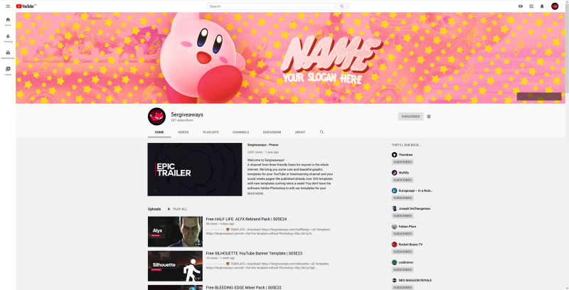 Kirby Banner Example