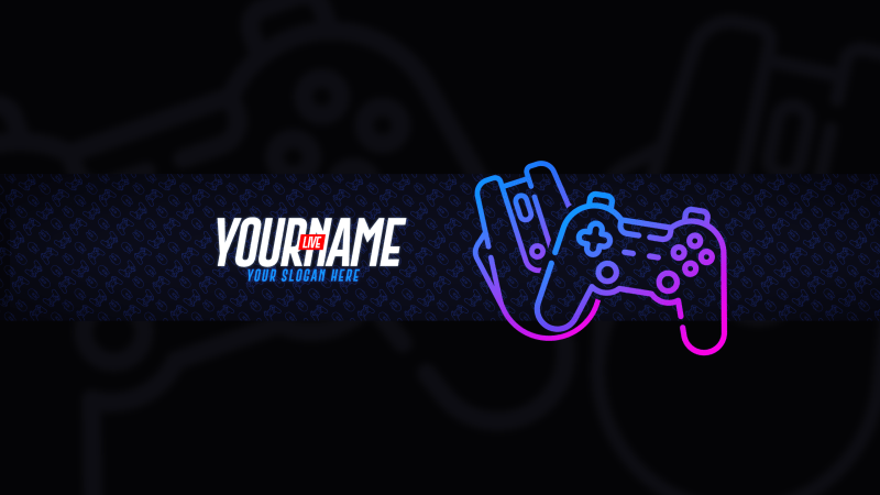 Live Gaming YouTube Banner