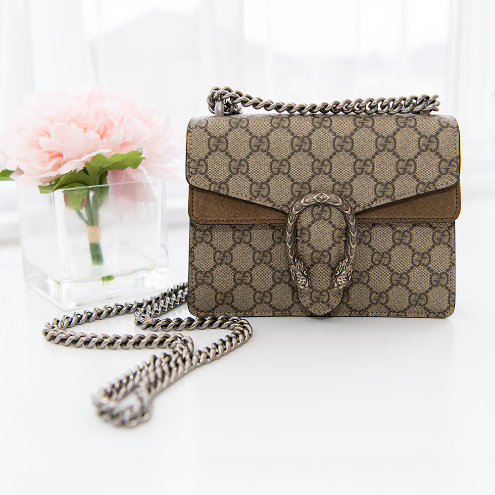 15963b83590 Review  Gucci Dionysus GG Supreme Mini Bag