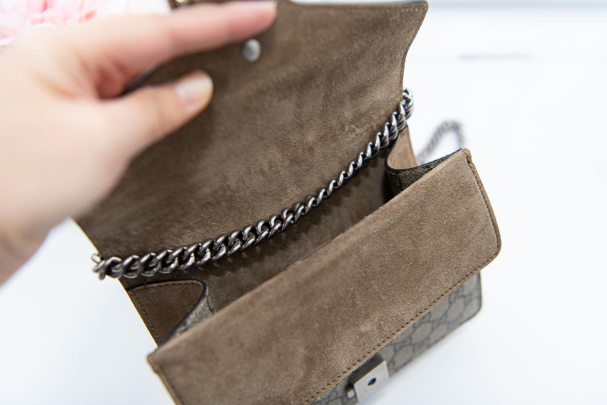 Review Gucci Dionysus GG Supreme Mini Bag
