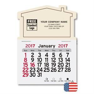 108742 Monthly Magnetic Calendar - House 3 x 4