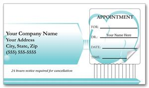 3358 Dental Appointment Cards Peel and Stick Toothbrush Design 3 1/2 X 2