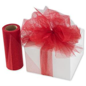 458307 Red Sparkle Tulle Ribbon 6