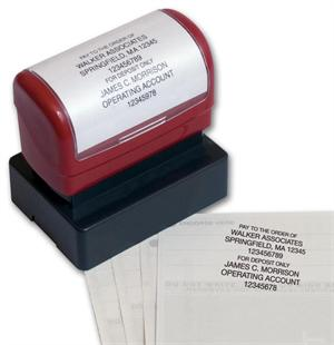 D2023 Pre Inked Bank Endorsement Stamp - A