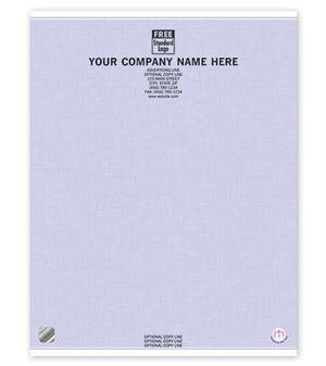 SSPH05 High Security Paper Blue Letterhead 8 1/2 x 11