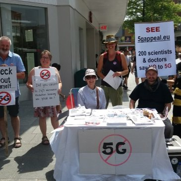 Stop 5G Protest at Erewhon in Venice Thanksgiving Weekend