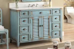 #8 Chans Furniture Abbeville Bathroom Vanity U2013 Best Rustic Style Bathroom  Vanity