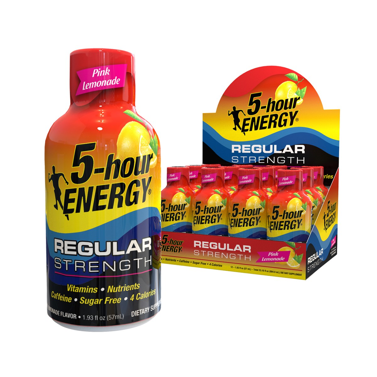 Pink Lemonade flavor Regular Strength 5-hour ENERGY® Shots