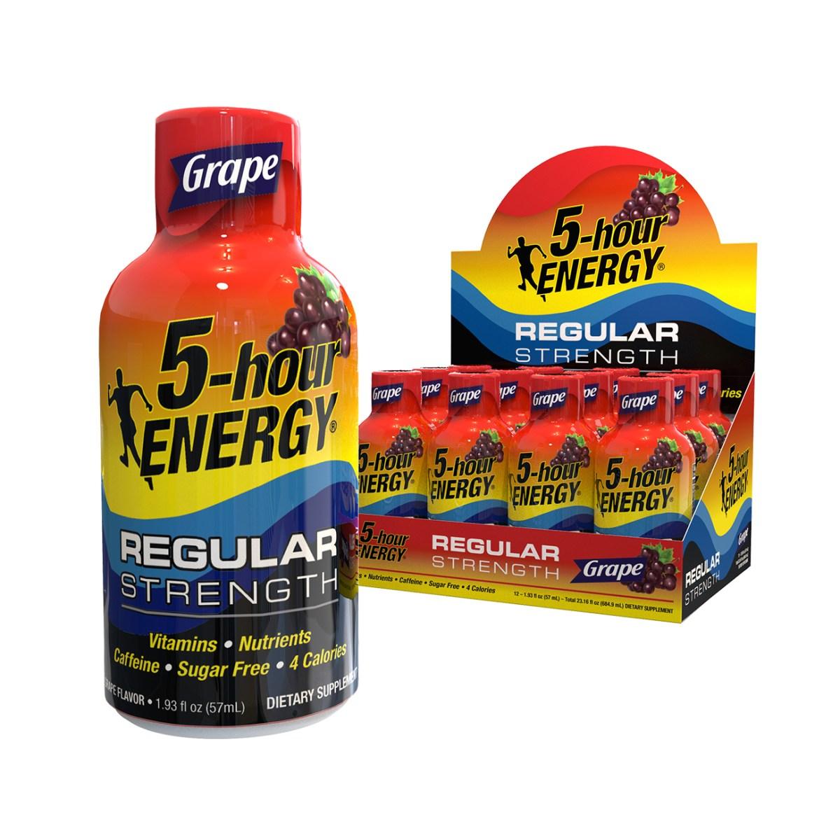 Grape flavor Regular Strength 5-hour ENERGY® Shots