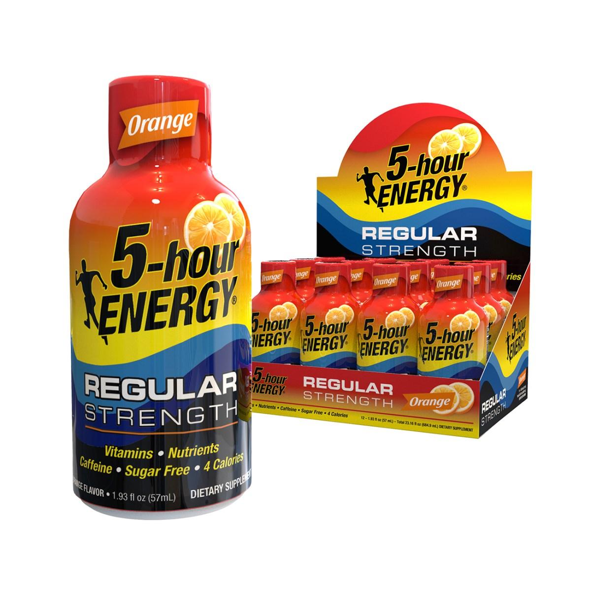 Orange flavor Regular Strength 5-hour ENERGY® Shots