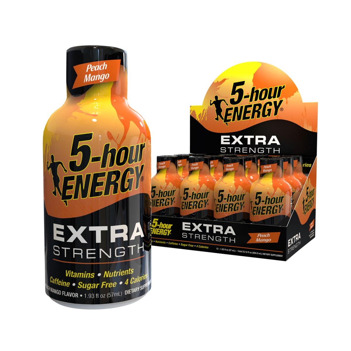 Peach Mango flavor Extra Strength 5-hour ENERGY® Shots