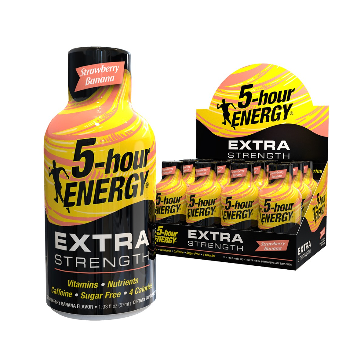 Strawberry Banana flavor Extra Strength 5-hour ENERGY® Shots