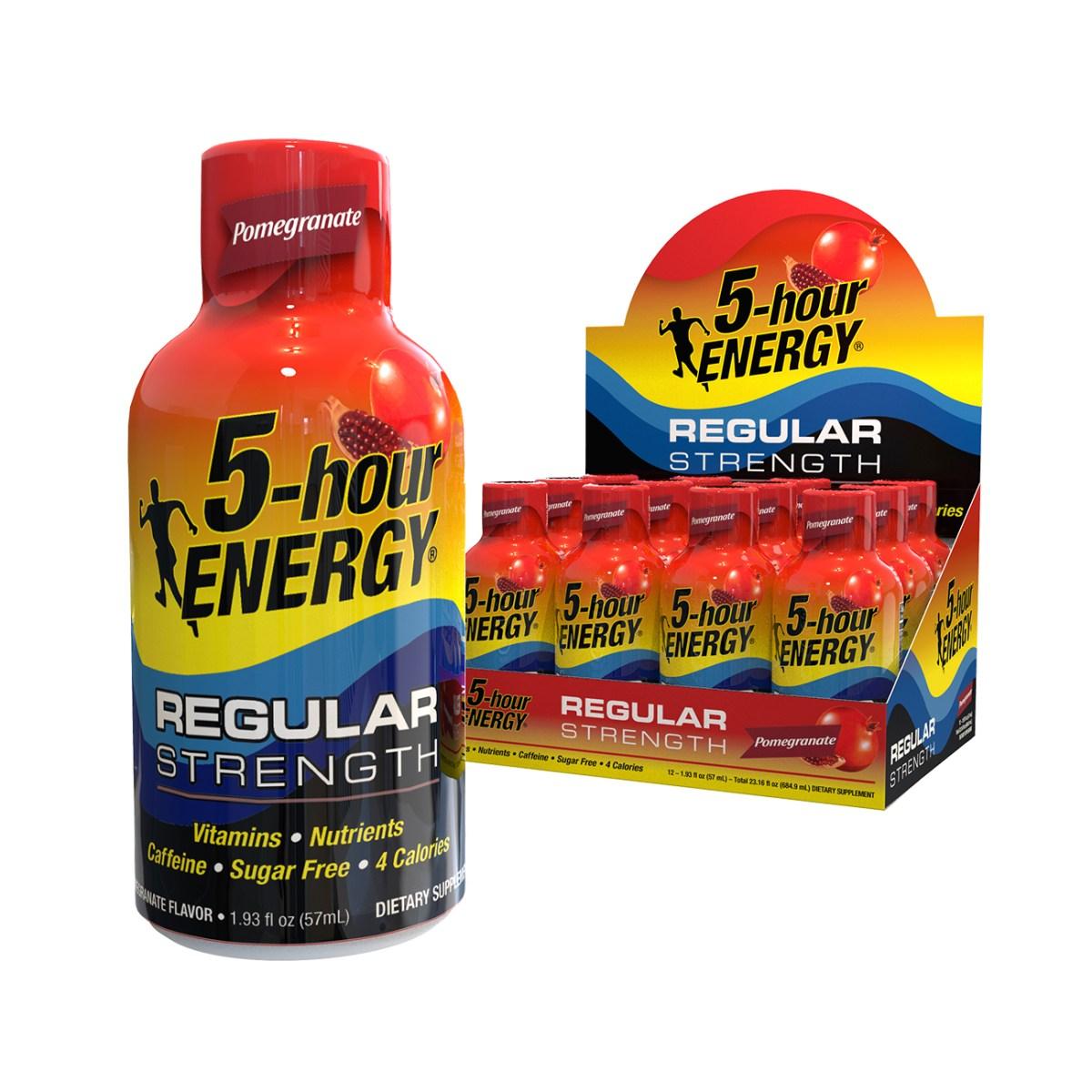 Pomegranate flavor Regular Strength 5-hour ENERGY® Shots