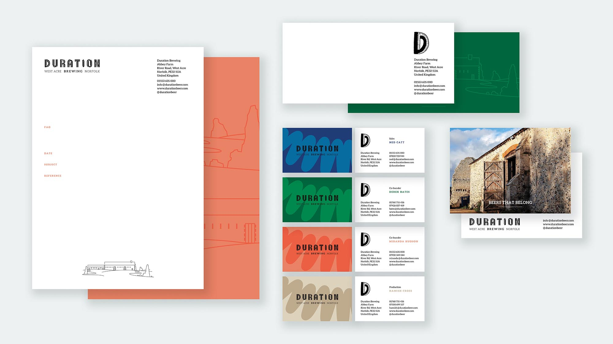 Stationery Design Duration Brewing 2