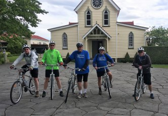 The Old Church, Meeanee: Kem, Paul, Dale, Kev & Steve