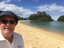 Dale's selfie at Kaiteriteri