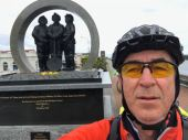 Getting good at this: At West Coast Miners' Memorial