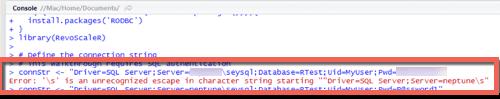SQL Named Instances in R with Microsoft SQL Server
