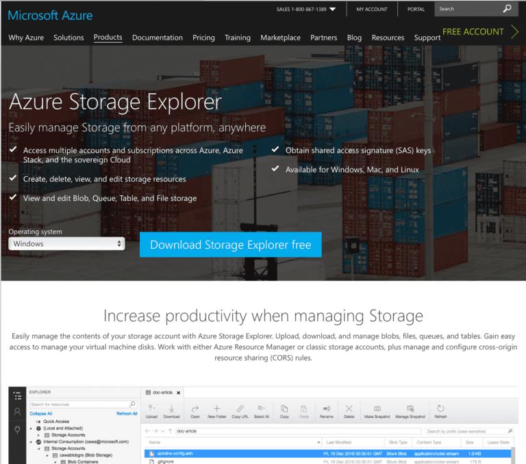 Getting the Latest Azure Storage Explorer Version