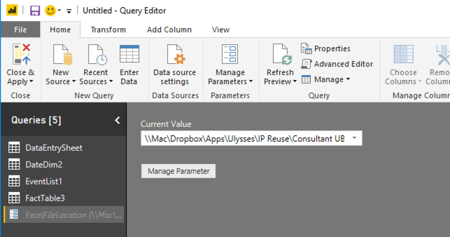 How To Use Query Parameters In PowerBI Flat File Data Sources