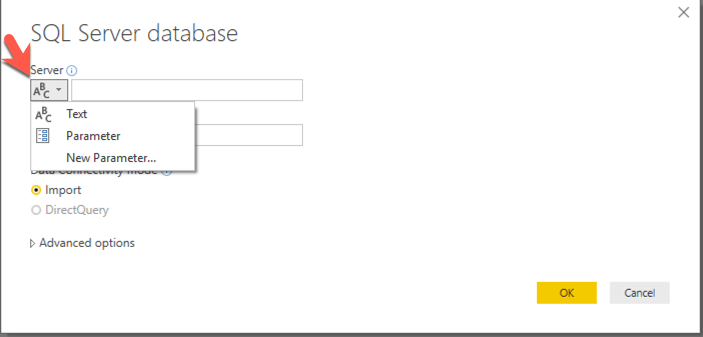 Server Connection via Parameter