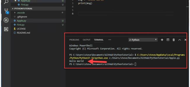 Setup VSCode for Python and GitHub