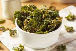 Low Carb Kale Chips -Garlic Parmesan