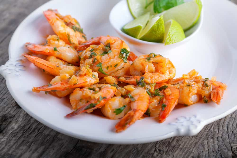 Low Carb Cilantro Lime Shrimp