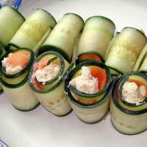 Bread-less Cucumber Sandwiches