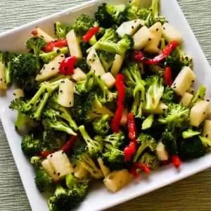 Keto spicy broccoli jicama salad