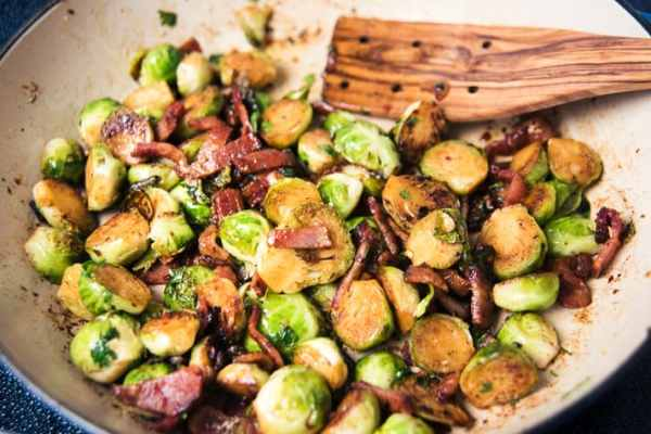 buttered bacon brussel sprouts