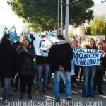 Morón: Macri y Vidal interrumpieron un acto por protesta de Judiciales bonaerenses