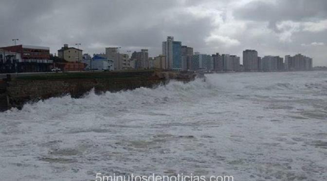 Costa Atlántica: Alerta por sudestada