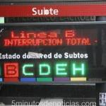 Línea B de Subte no funcionará mañana miércoles