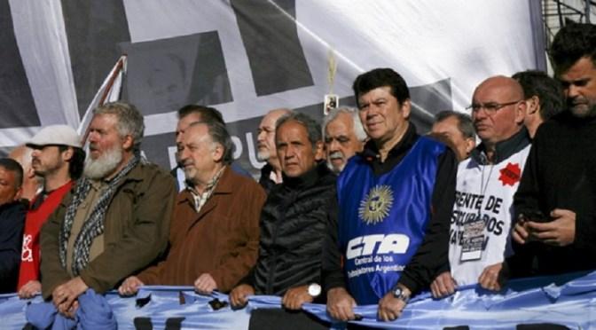 HUGO YASKY, SERGIO PALAZZO Y PABLO MICHELI, LIDERAN LA MARCHA FEDERAL CONTRA EL AJUSTE