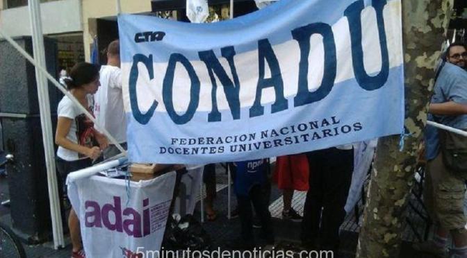 LOS DOCENTES UNIVERSITARIOS Y LA UDA PARAN EL 4 DE OCTUBRE