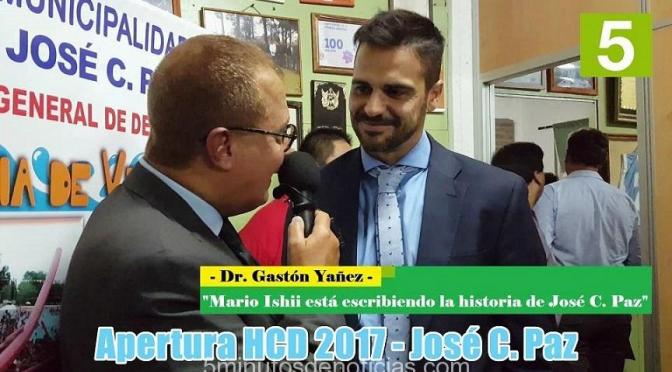 """GASTÓN YAÑEZ """"MARIO ISHII ESTÁ ESCRIBIENDO LA HISTORIA DE JOSÉ C. PAZ"""""""