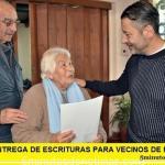NUEVA ENTREGA DE ESCRITURAS PARA VECINOS DE MERLO