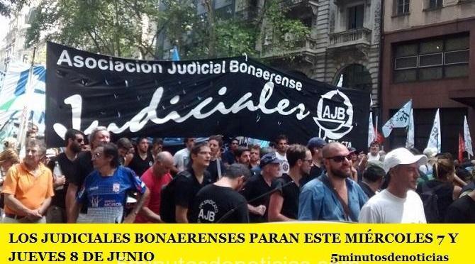 LOS JUDICIALES BONAERENSES PARAN ESTE MIÉRCOLES 7 Y JUEVES 8 DE JUNIO