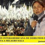 LA COMISIÓN INTERAMERICANA DE DERECHOS HUMANOS (CIDH) VISITA A MILAGRO SALA